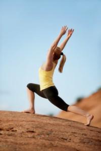 crescent lunge yoga pose