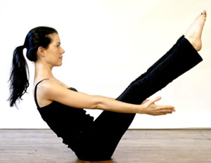 yoga boat pose