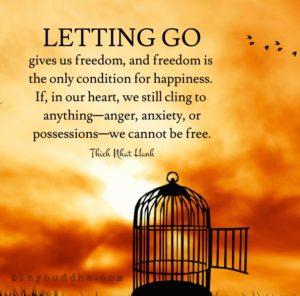 practice letting go