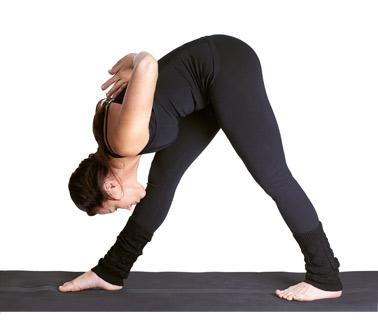 intense side stretch pose