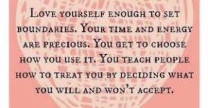 establish boundaries