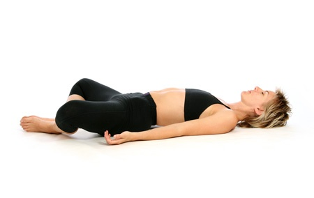 reclining bound angle pose