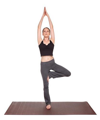 yoga poses – Tree Pose position (vrksasana)