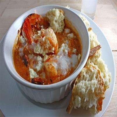 mediterranean shrimp saganaki