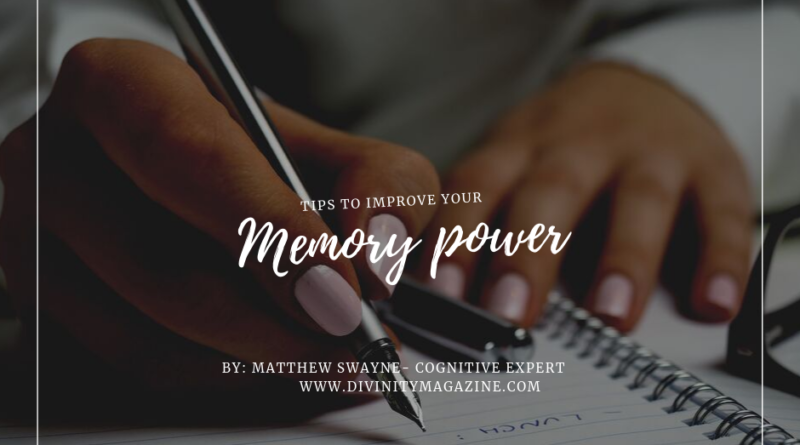 improve your memory power matthew swayne